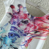 Watercolor Giraffe Printed Tees