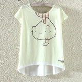 Watercolor Giraffe Printed Tees-women-wanahavit-Cute Cat-L-wanahavit