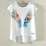 Watercolor Giraffe Printed Tees-women-wanahavit-Wings-M-wanahavit