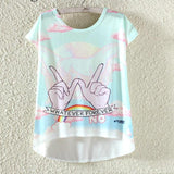 Watercolor Giraffe Printed Tees-women-wanahavit-Winner-M-wanahavit