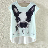 Watercolor Giraffe Printed Tees-women-wanahavit-Dog-M-wanahavit