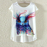Watercolor Giraffe Printed Tees-women-wanahavit-Owl-M-wanahavit