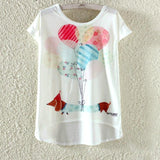 Watercolor Giraffe Printed Tees-women-wanahavit-Ballons-M-wanahavit