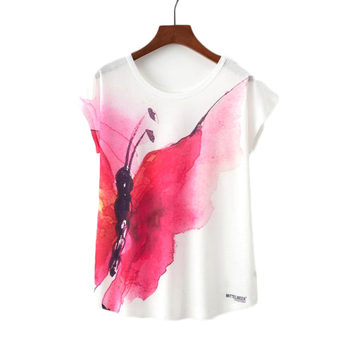 Red Butterfly Printed Tees