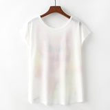 Watercolor Owl Printed Tees-women-wanahavit-M-wanahavit