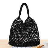 Bohemia Bali Straw Handwoven Beach Bags-women-wanahavit-Black-wanahavit