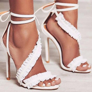 Ankle Strap High Heels Ruffles Sandals-women-wanahavit-pink-6.5-wanahavit