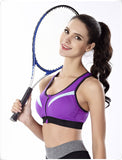 Zipper Shockproof Padded Push Up Sports Bra-women fitness-wanahavit-Purple-S-wanahavit