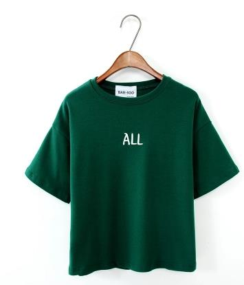 ALL Embroidery Harajuku Style Cotton Shirt-women-wanahavit-Green-One Size-wanahavit
