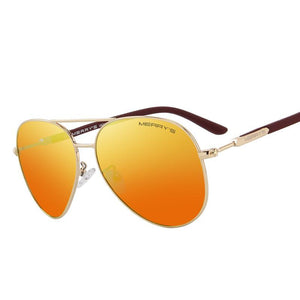 Classic Pilot Polarized Sunglass-men-wanahavit-C01 Red-wanahavit