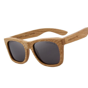 Wooden Retro Polarized Sunglass-unisex-wanahavit-C01 Black-wanahavit