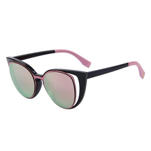 Cat Eye Retro Pierced Sunglass-women-wanahavit-C01 Pink-wanahavit