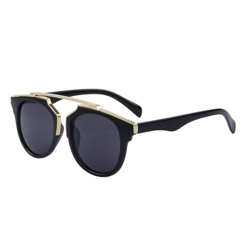 Fashion Cat Eye Sunglass UV400-women-wanahavit-C01 Black-wanahavit