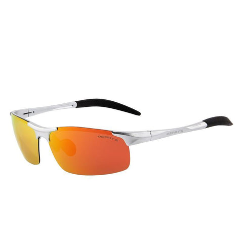 Polarized Aviation Aluminum Rimless Sunglass