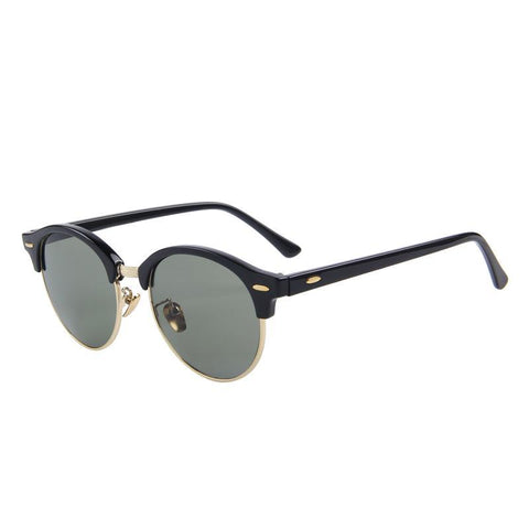 Retro Rivet Polarized Designer Sunglass