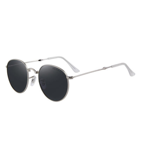 Retro Foldable Polarized Oval Sunglass