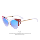 Abstract Frame Cat Eye Sunglass