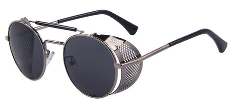 Retro Design Round Steampunk Sunglass