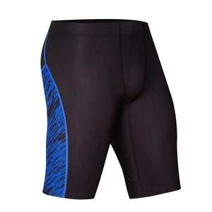 2 Color Stripe and Accent Compression Shorts-men fitness-wanahavit-1504 blue shorts-M-wanahavit