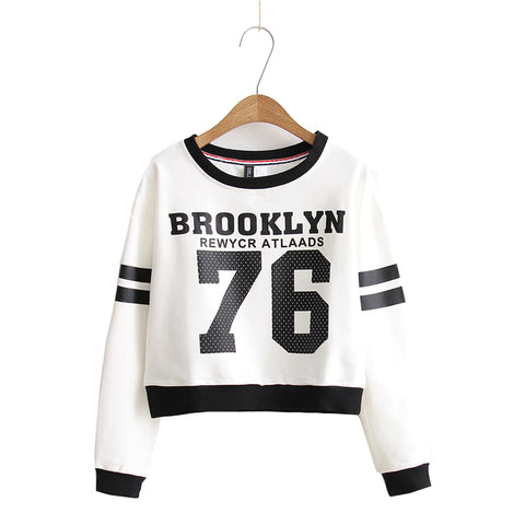 Brooklyn 76 Crop Top Long Sleeve Sweatshirt