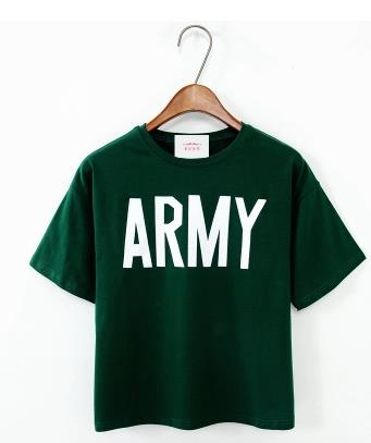 Army Printed Harajuku Loose Casual Shirt