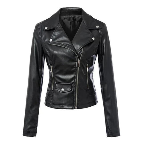 Gothic Biker PU Zippered Jacket