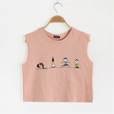 Cartoon Print Harajuku Style Sleeveless