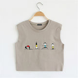 Cartoon Print Harajuku Style Sleeveless-women-wanahavit-Light Khaki-One Size-wanahavit