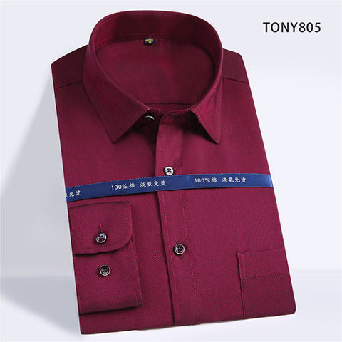 High Quality Solid Cotton Long Sleeve Shirt #805X-men-wanahavit-TONY805-S-wanahavit