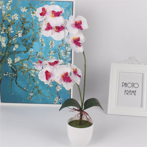 Artificial Orchid Flower with Leaf-home accent-wanahavit-purple-wanahavit