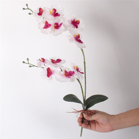 Artificial Orchid Flower with Leaf