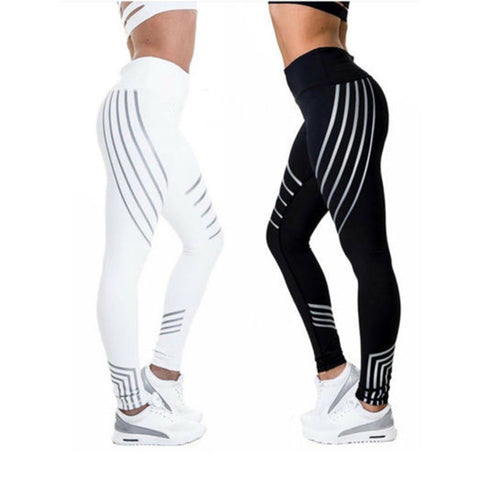 Striped High Waist Quick Dry Leggings