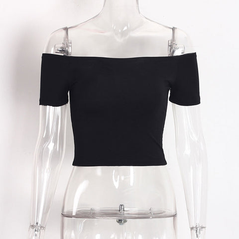 Off Shoulder Crop Top Shirt-women-wanahavit-Black-S-wanahavit