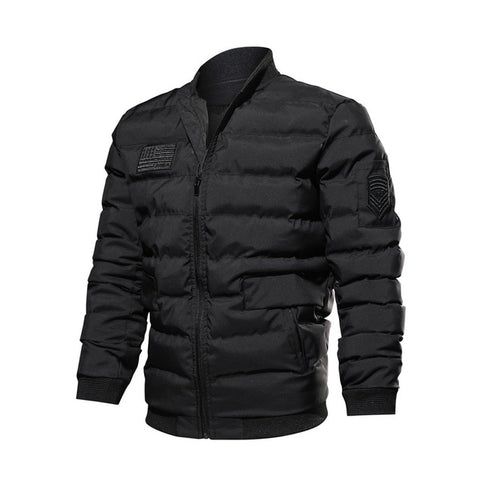 Casual Slim Warm Jacket-men-wanahavit-Black-L-wanahavit