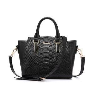 Luxury Designer Genuine Leather Shoulder Bag-women-wanahavit-Black-(20cm<Max Length<30cm)-wanahavit