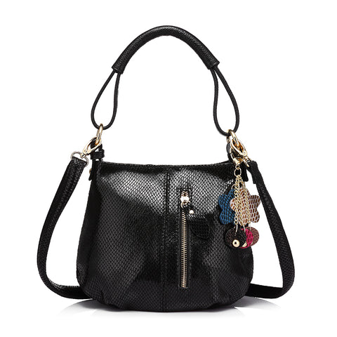 Genuine Leather Soft Hobo Shoulder Bag-women-wanahavit-Black-wanahavit