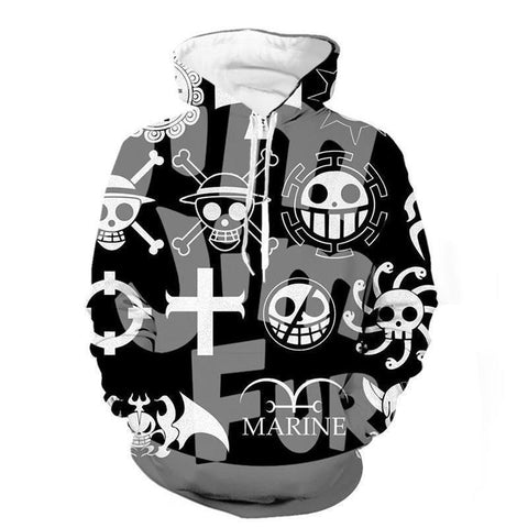 One Piece Anime Design Pullover Hoodies