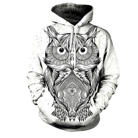 Owl Printed 3D Hoodie Cool Fashion Hooded Sweatshirt-unisex-XXL-wanahavit