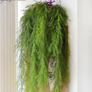Artificial Wall Hanging Pine Needle Plant-home accent-wanahavit-wanahavit
