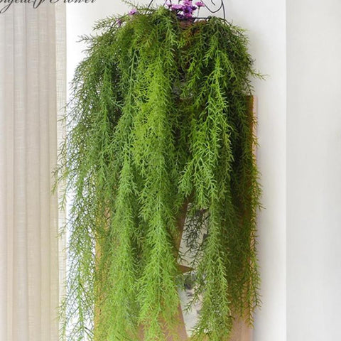 Artificial Wall Hanging Pine Needle Plant-home accent-wanahavit-Green-wanahavit
