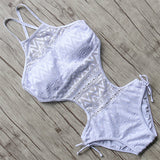 Sexy Handmade Solid Color Meshed Monokini-women fitness-wanahavit-White-S-wanahavit