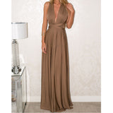 Elegant Multiway Convertible Wrap Maxi Dress-women-wanahavit-Brown-L-wanahavit