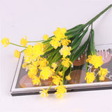 Artificial Flower Shoots Bouquet-home accent-wanahavit-Yellow-wanahavit