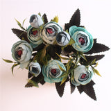 European Style Artificial Camelia Bouquet-home accent-wanahavit-green-wanahavit