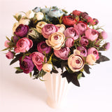 European Style Artificial Camelia Bouquet-home accent-wanahavit-pink-wanahavit