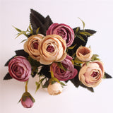 European Style Artificial Camelia Bouquet-home accent-wanahavit-rose pink-wanahavit