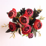European Style Artificial Camelia Bouquet