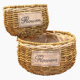 Big Handmade Bamboo Flower Baskets