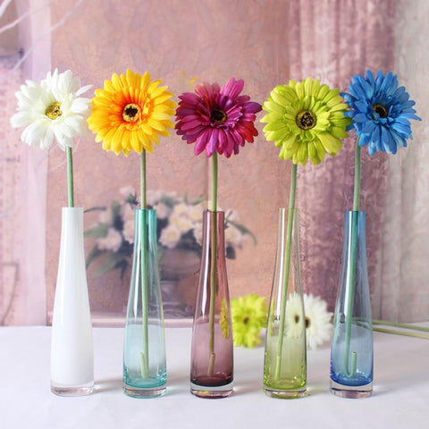 Stained Glass Flower Bottle-home accent-wanahavit-White-wanahavit