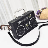 Summer Radio Tape Printed Mini Shoulder Bag-women-wanahavit-black-Mini(Max Length<20cm)-wanahavit